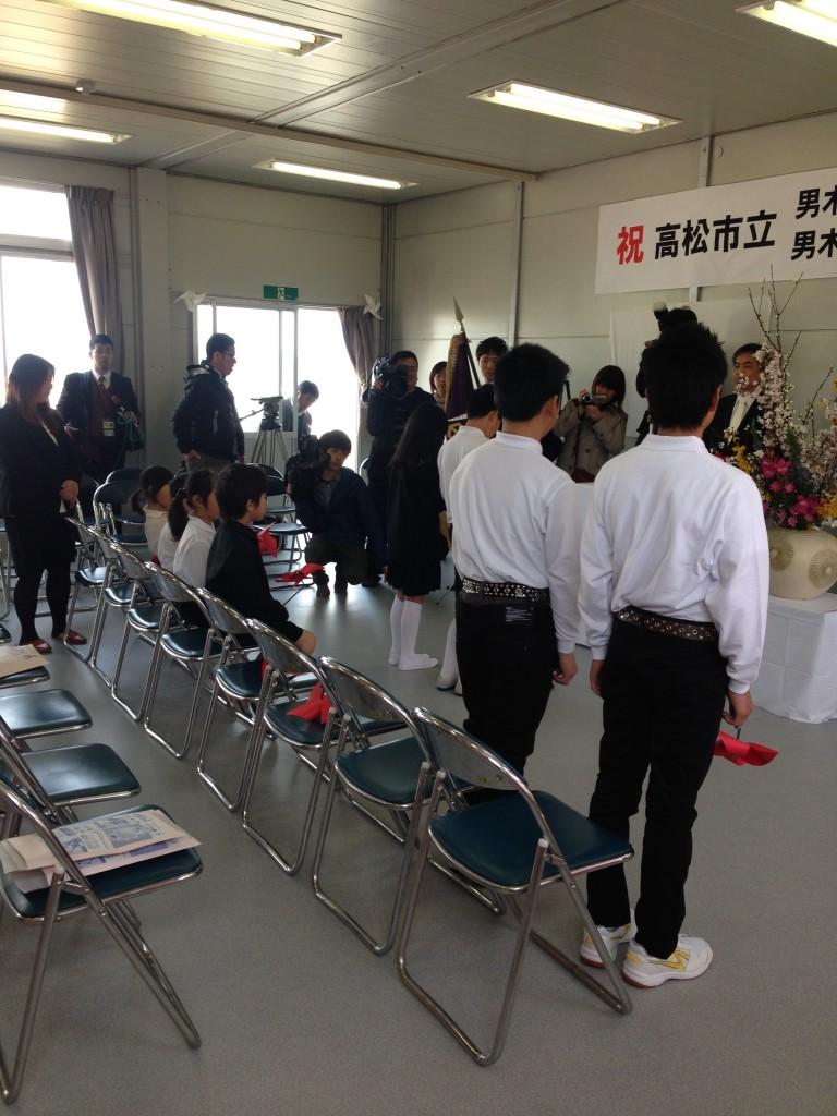 男木小中学校再開式
